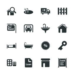 Real Estate Silhouette Icons