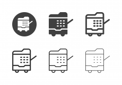 Photocopier Icons - Multi Series