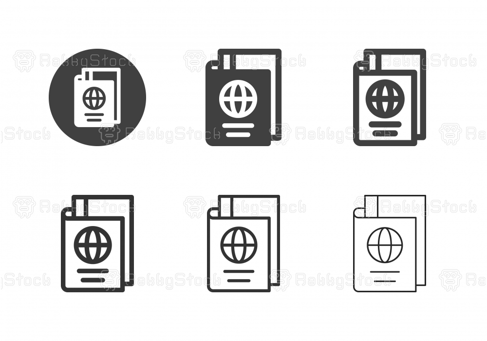 Passport and Boarding Pass Icons - Multi Series