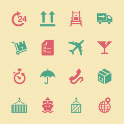 Logistics and Shipping Icons - Color Series | EPS10