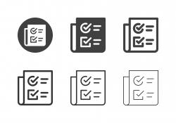 Checklist Paper Icons - Multi Series
