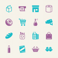 Supermarket Icons - Color Series | EPS10