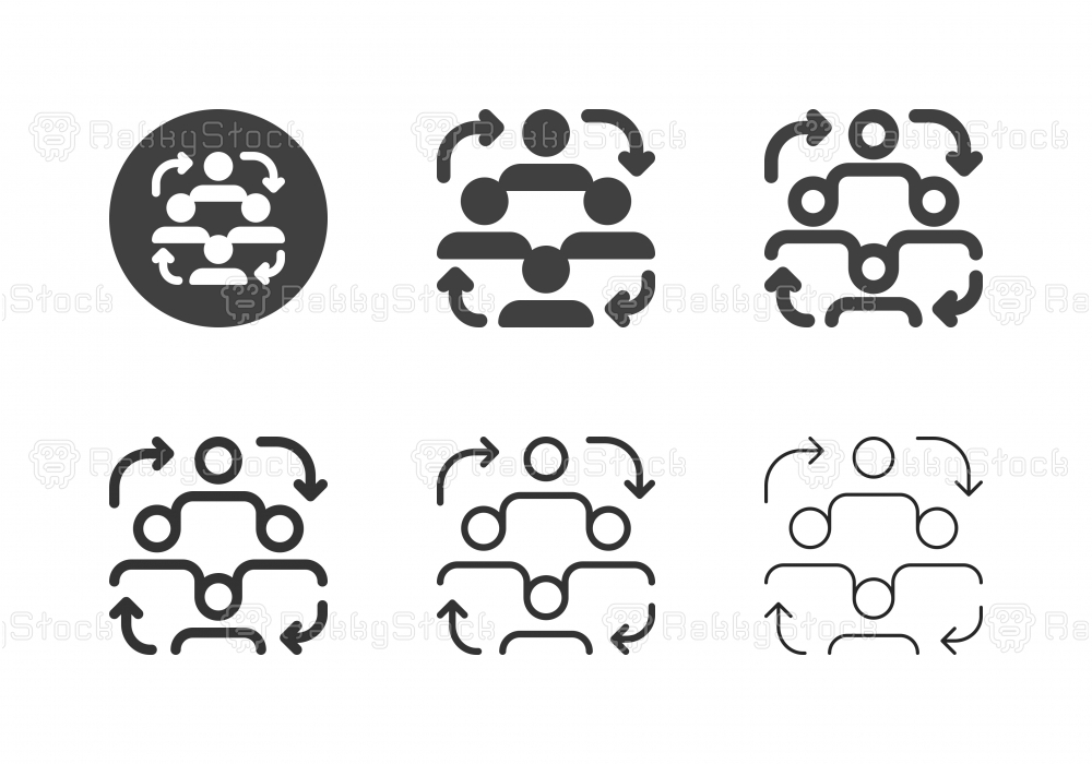 Human Cooperation Icons - Multi Series