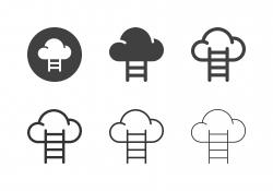 Cloud Stair Icons - Multi Series