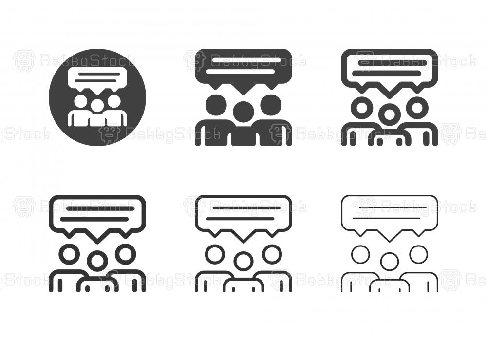 Share Ideas Icons - Multi Series