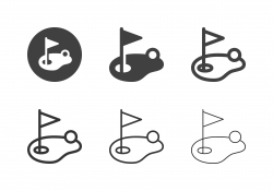 Golf Course Icons - Multi Series