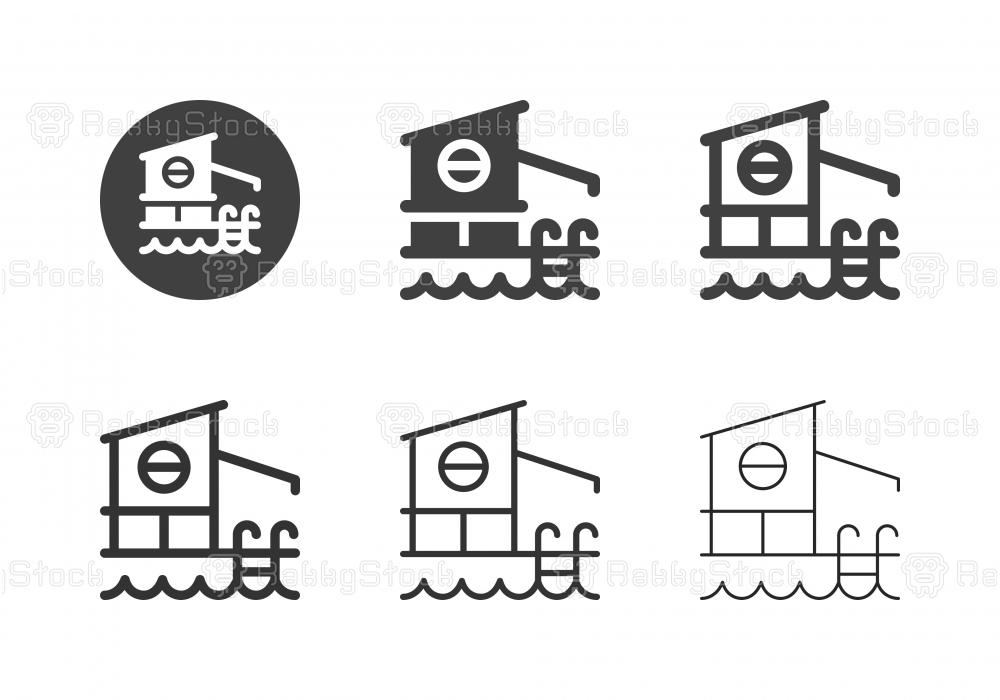 Pool Villa Icons - Multi Series