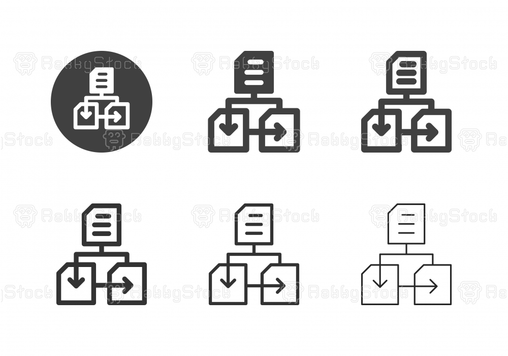 Data Network Icons - Multi Series