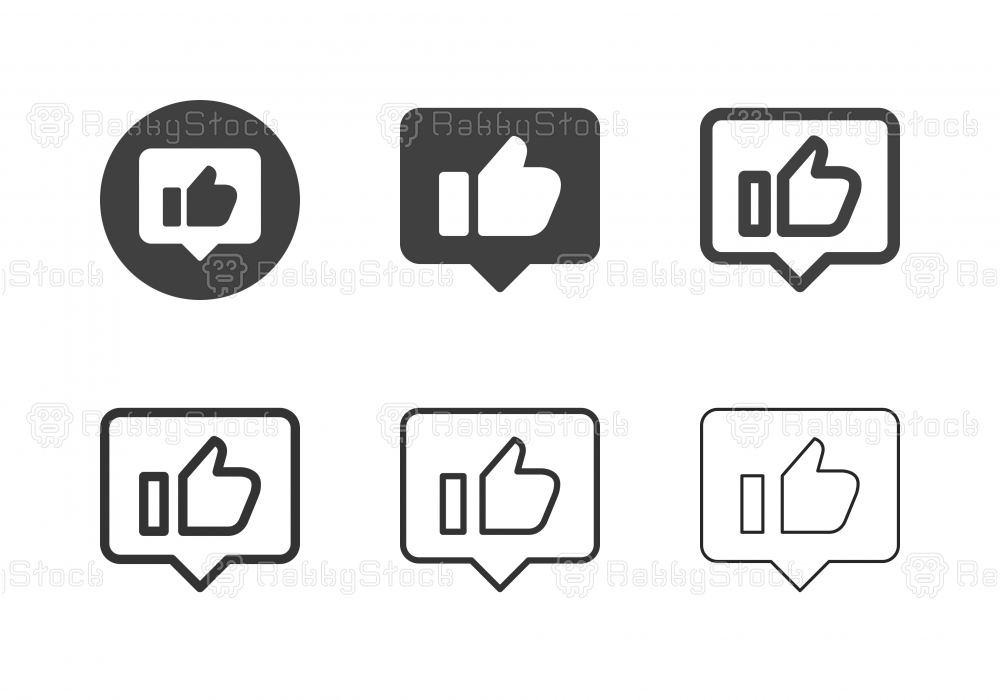 Contented Emotion Icons - Multi Series