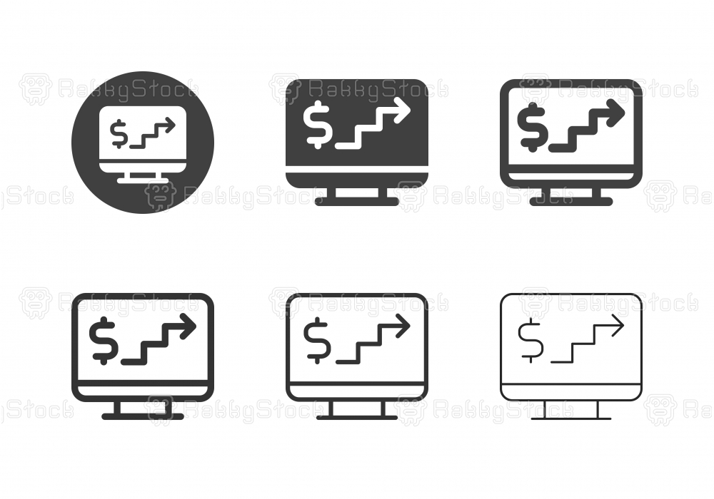 Digital Financial Step Icons - Multi Series