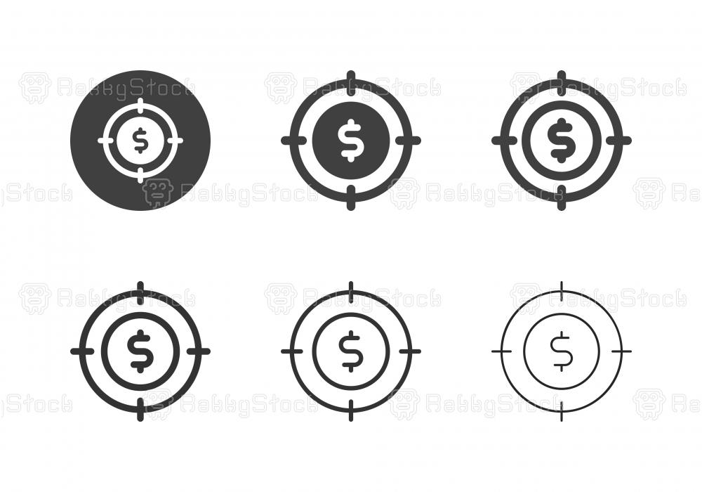 Financial Target Icons - Multi Series