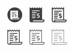 Financial Bill Icons - Multi Series