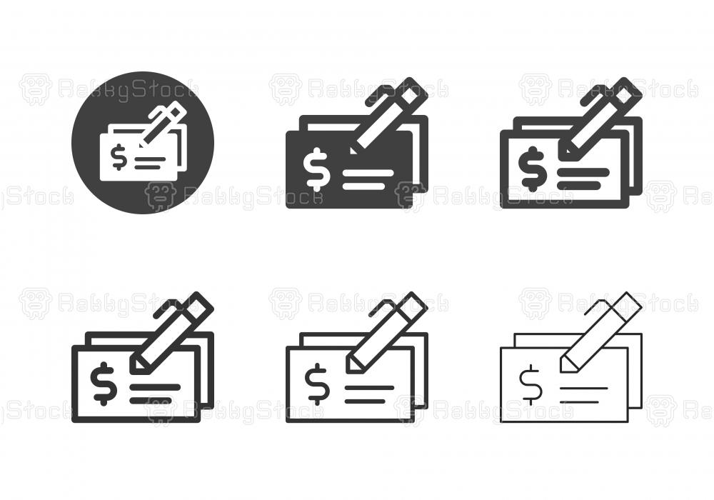 Cashiers Check Icons - Multi Series