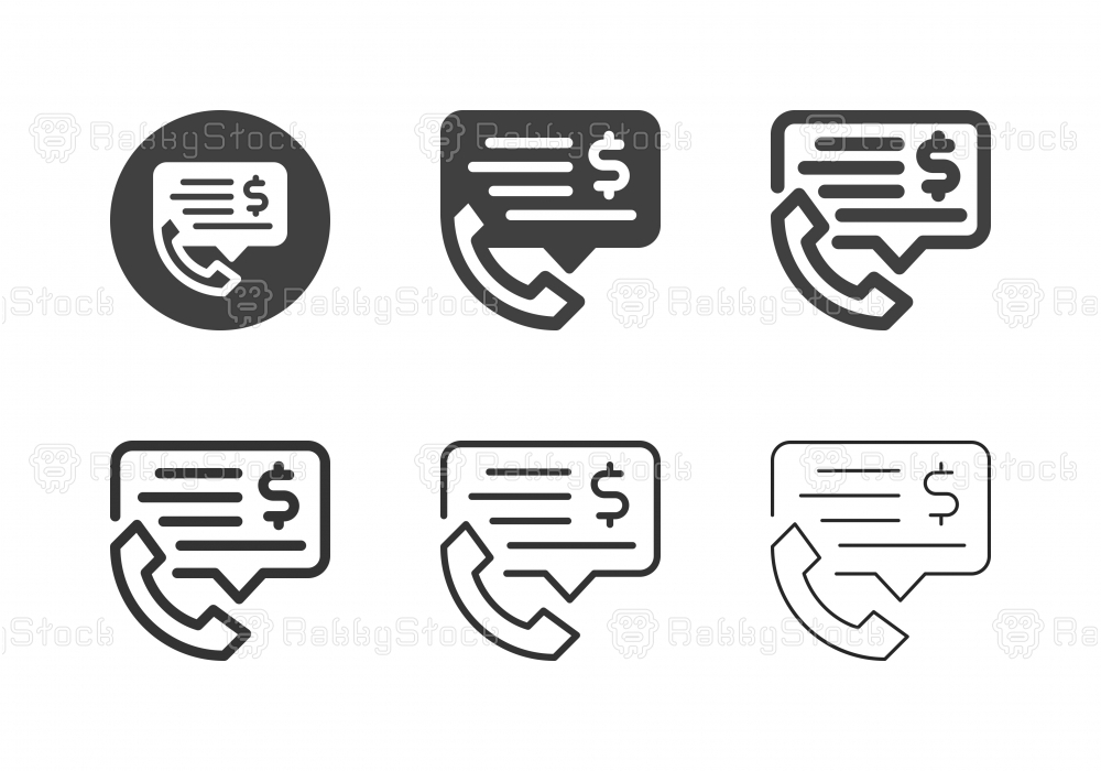 Financial Phone Consultant Icons - Multi Series