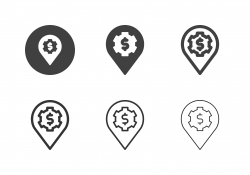 Financial Place Icons - Multi Series