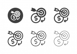 Money Target Icons - Multi Series
