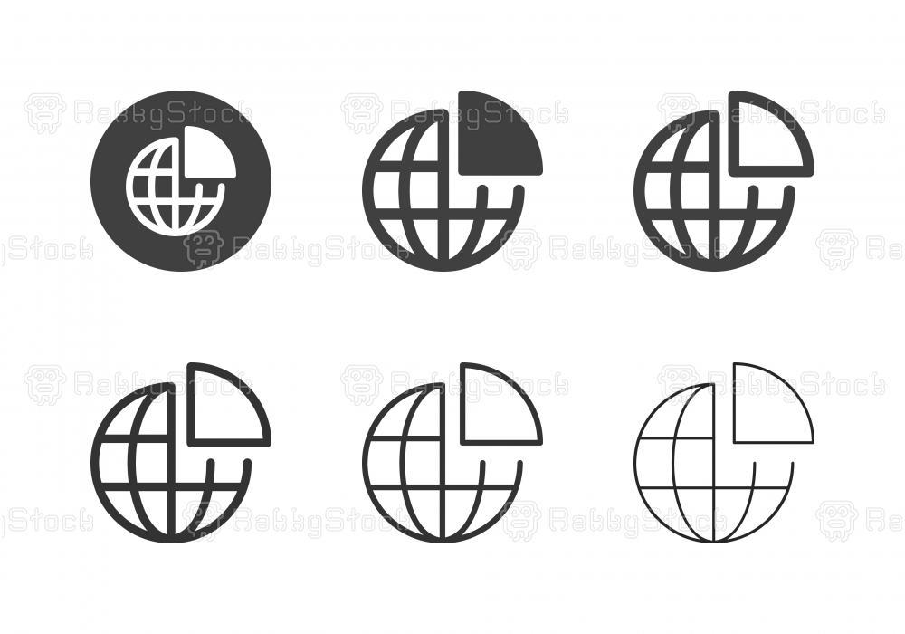 Global Analyzing Icons - Multi Series