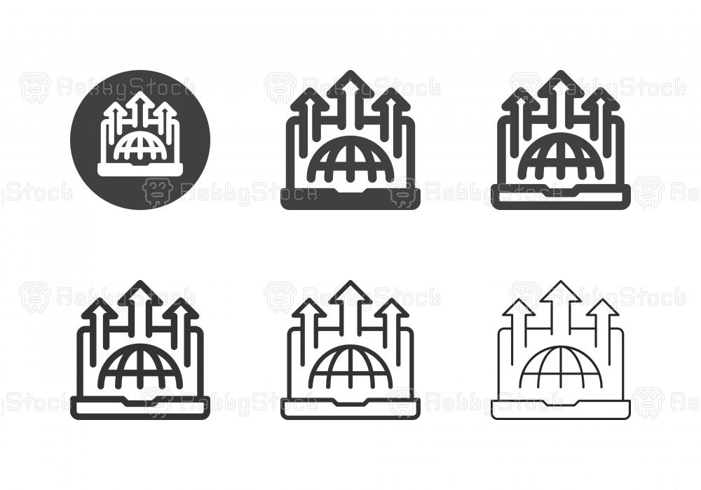 Economic Growth Icons - Multi Series