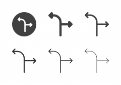 Arrow Direction Icons 10 - Multi Series