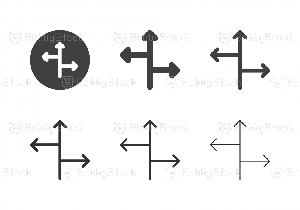 Arrow Direction Icons 11 - Multi Series