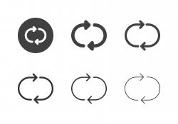 Arrow Direction Icons 13 - Multi Series