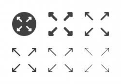 Arrow Direction Icons 20 - Multi Series