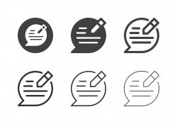 Speech Editor Icons - Multi Series