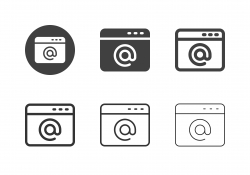 Email Address Icons - Multi Series