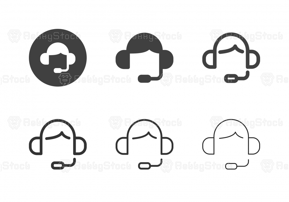 Call Center Icons - Multi Series