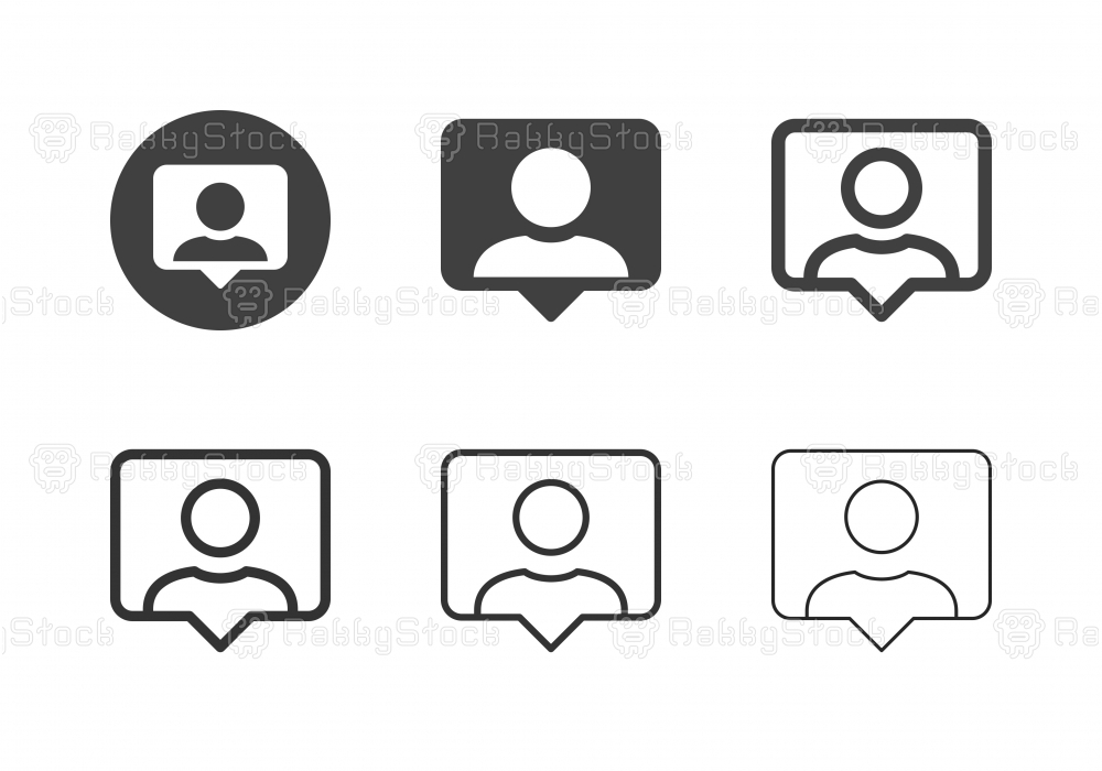 Online Chat User Icons - Multi Series