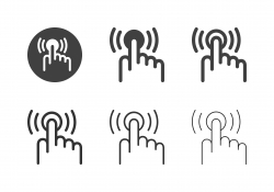 Touching Button Icons - Multi Series