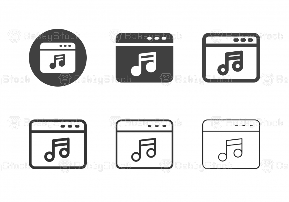 Music Web Page Icons - Multi Series