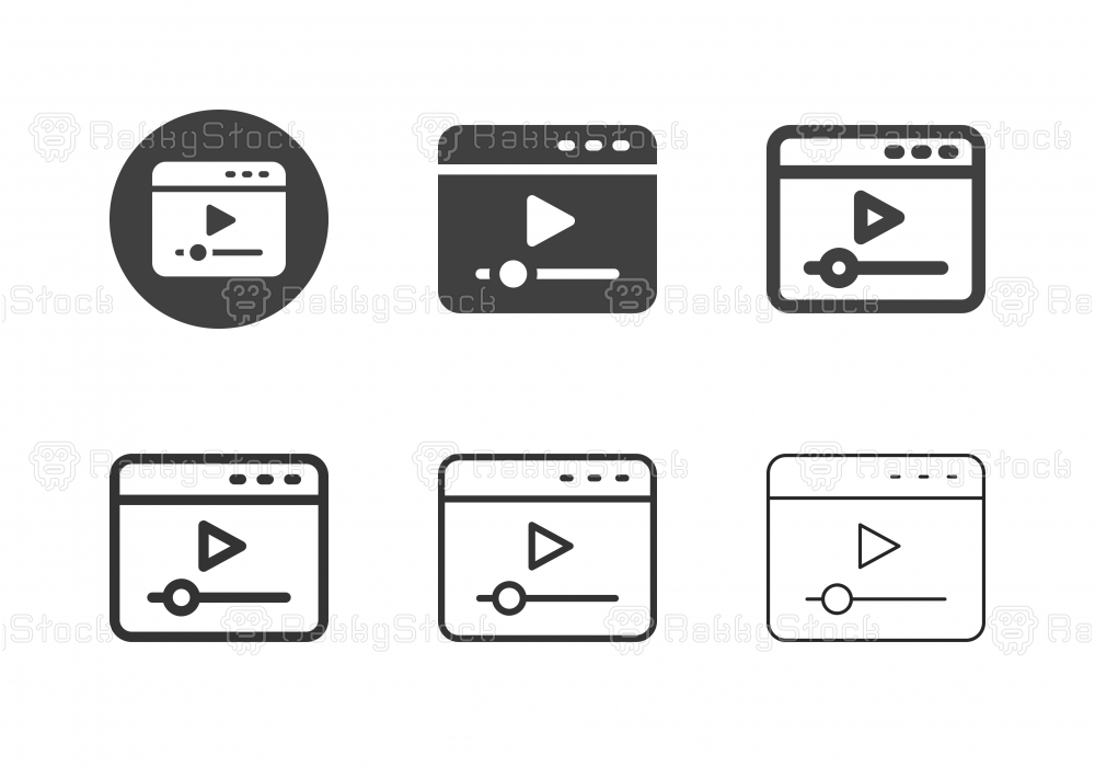 Video Web Player Icons - Multi Series