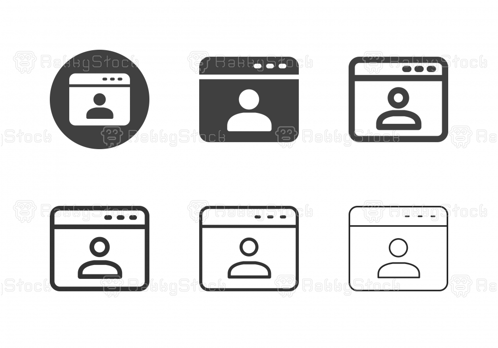 Web Account Icons - Multi Series
