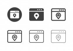 Web Location Service Icons - Multi Series