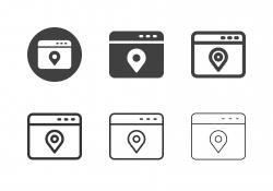 Web Location Service Icons - Multi Series