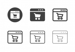 Online Shopping Icons - Multi Series