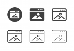 Online Photo Gallery Icons - Multi Series