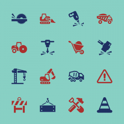 Construction Icons - Color Series | EPS10