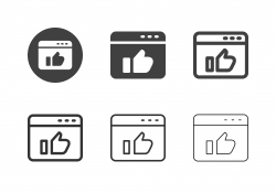 Web Page Like Button Icons - Multi Series