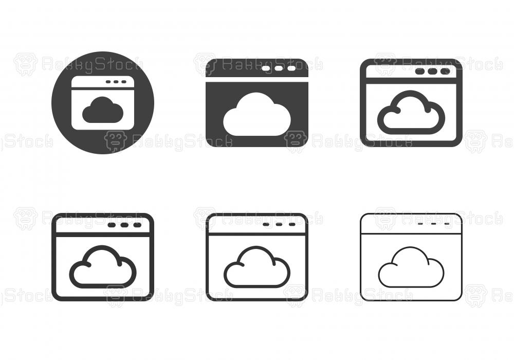 Web Cloud Service Icons - Multi Series