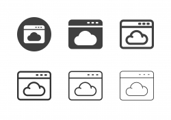 Web Cloud Service Icons - Multi Series