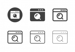 Web Search Icons - Multi Series