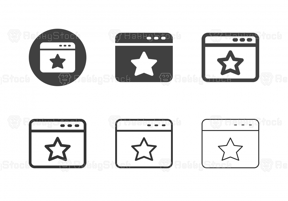 Web Page Rating Star Icons - Multi Series