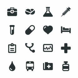 Medical Sign Silhouette Icons