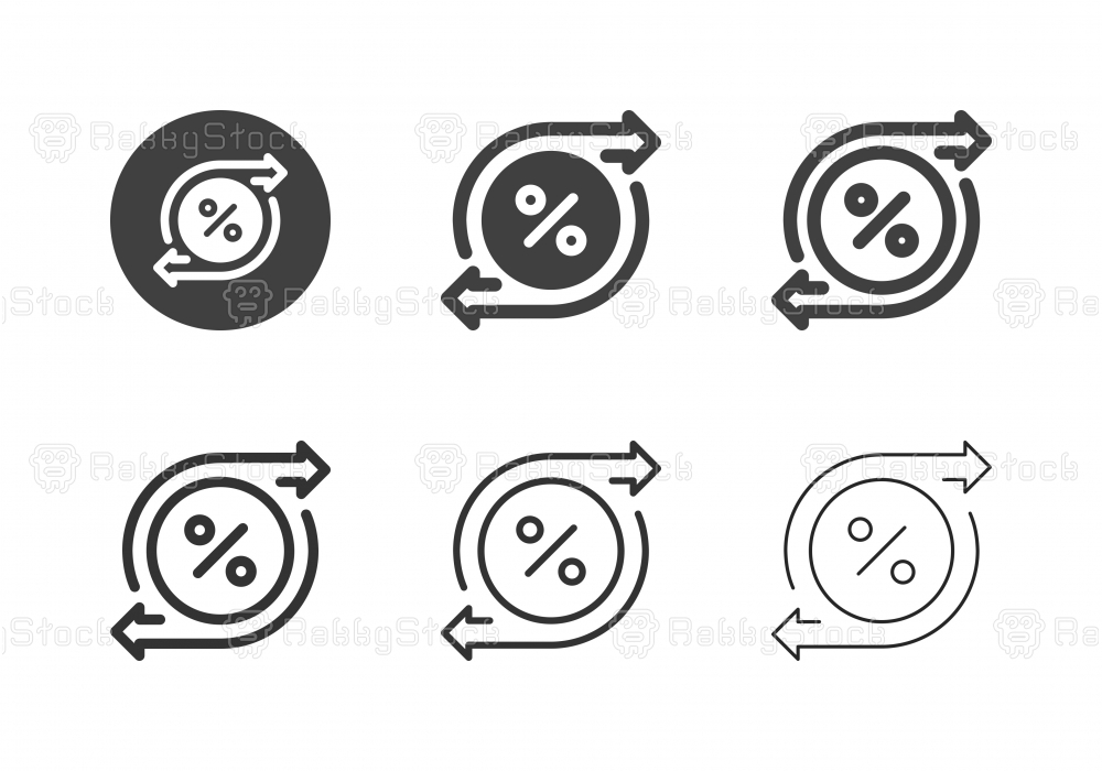 Interest Flow Icons - Multi Series
