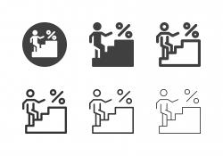 Interest Ladder Icons - Multi Series