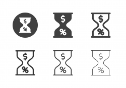 Financial Hourglass Icons - Multi Series