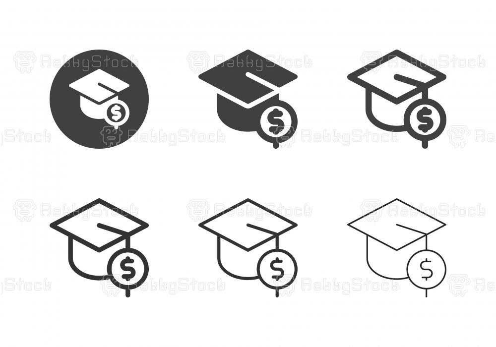 Accountant Degree Icons - Multi Series