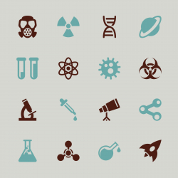 Science Icons - Color Series | EPS10